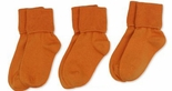 Jefferies Socks Seamless Toe Turn Cuff Sock Orange