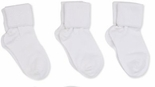 Jefferies Socks Seamless Toe Turn Cuff Sock White