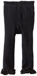 Jefferies Cotton Ruffle Footless Tights Leggings Black