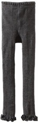 Jefferies Cotton Ruffle Footless Tights Leggings Charcoal Grey