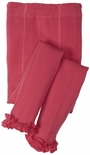 Jefferies Cotton Ruffle Footless Tights Leggings Hot Pink