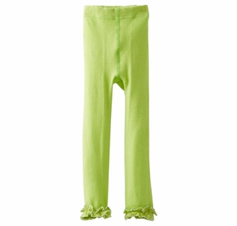 11279ea7e0445 KneesNToes.net - Jefferies Cotton Ruffle Footless Tights Leggings Lime Green,  girls tights, heavy weight tights, girls leggings, ruffled leggings, ...