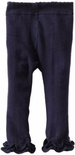 Jefferies Cotton Ruffle Footless Tights Leggings Navy Blue