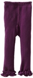 Jefferies Cotton Ruffle Footless Tights Leggings Plum