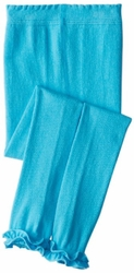 Jefferies Cotton Ruffle Footless Tights Leggings Turquoise