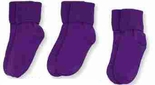 Jefferies Socks Seamless Toe Turn Cuff Sock Grape