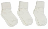 Jefferies Socks Seamless Toe Turn Cuff Sock Ivory