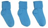 Jefferies Socks Seamless Toe Turn Cuff Sock Turquoise