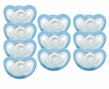 JollyPop Pacifier Soothie Newborn Natural Scent Blue 10 Pk
