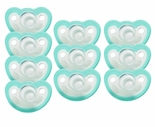 JollyPop Pacifier Soothie Newborn Natural Scent Teal 10 Pk
