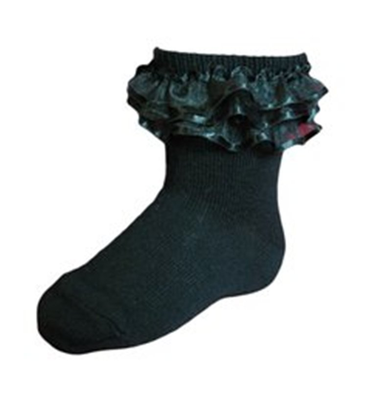 3b7c335e287 KneesNToes.net - Jrp Girls Dressy Anklet Ruffle Socks black