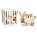 KALOO VANILLE CHOCOLAT GIFT SET, PLUSH TOY AND 100ML SCENTED WATER-Hypo Allergenic, Alcohol Free-
