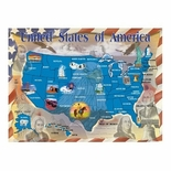 Melissa & Doug Deluxe 500 piece Map of the United States Cardboard Jigsaw