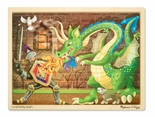 Melissa & Doug Knight vs. Dragon Jigsaw Puzzle 48-Piece