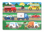 Melissa & Doug Vehicles Peg Puzzle 8 Pieces