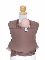 88cfd2169a7 KneesNToes.net - Moby Wrap Modern Baby Carrier Cafe