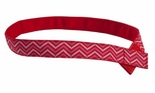 Myself Belts Girl's Red Zig Zag Belt