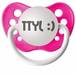 Neon Pink Orthodontic Expression Pacifier TTYL