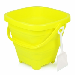 Packable Beach Pail Yellow