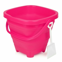 Packable Beach Pail Pink