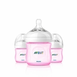 Philips AVENT Bottle 4 Oz Triple Pack Pink
