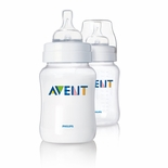Philips AVENT Classic Polypropylene Bottles 9 Oz. 2 Pack