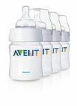 Philips AVENT Classic Polypropylene Bottles 4 Oz. 4 Pack