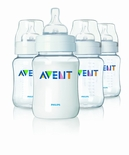 Philips AVENT Classic Polypropylene Bottles 9 Oz. 4 Pack