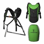 Piggyback Rider Standing Child Carrier - Deluxe Model Green
