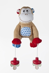 PullyPalz - The Interactive Pacifier Toy Monkey