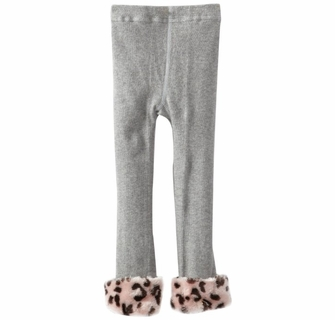 f79f9fc2e4f KneesNToes.net - Cotton Fur Leggings Heather Grey with Pink Leopard ...