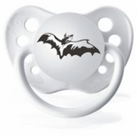 White Orthodontic Expression Pacifier  Bat