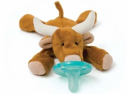 Wubbanub Pacifier Toy Long Horn Bull