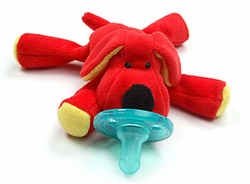 Wubbanub Pacifier Toy Red Dog