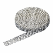 4 Row Rhinestone Mesh Ribbon (5 Yards per roll)