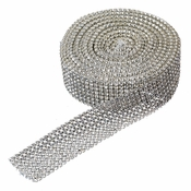 8 Row Rhinestone Mesh Ribbon (5 Yards per roll)