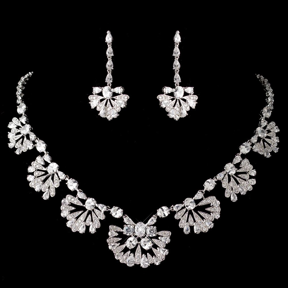 Style 123319 Diamontrigue Jewelry: Antique Rhodium Great Gatsby Style Jewelry Set 1588