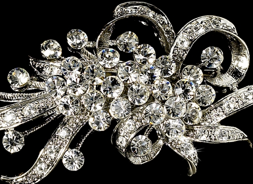 Antique Silver and Rhinestone Brooch 23 **Discontinued***