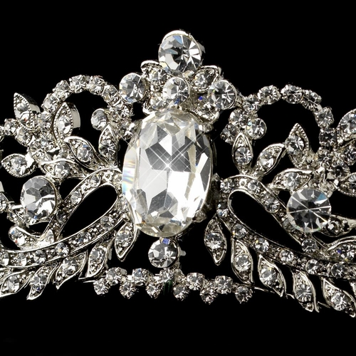 Antique Silver Clear Headpiece 9870