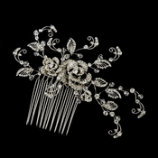 Swarovski Crystal Bead & Rhinestone Hair Comb in Antique Silver 754