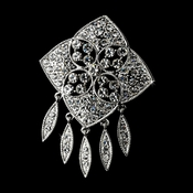 * Antique Silver Rhinestone Brooch 115