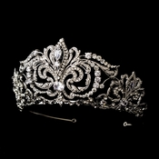 * Antique Silver Tiara Headpiece 407