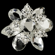 * Antique Silver Vintage Rhinestone Versatile Hair Brooch or Pin 8707 ***7 Left***