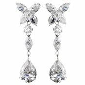 Atnique Silver Clear Cubic Zirconia Earrings E 5203
