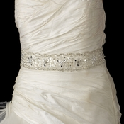 Beaded Bridal Sash Belt 51 with Rhinestone, Bugle Bead & Sequin Accents
