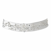 * Beaded Wedding Sash Bridal Belt 21 White