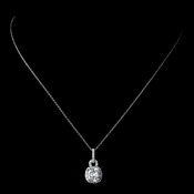 Beautiful and Simple CZ Pendant Necklace N 8114