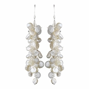 Beautiful Cluster Keshi Pearl Earrings E 8195