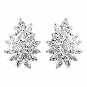 Beautiful Cubic Zirconium Marquise CZ Earrings E 7516