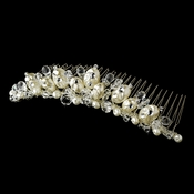 * Beautiful Pearl & Crystal Bridal Comb 7134 ***Discontinued***